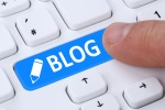 Push button blog writing online on the internet