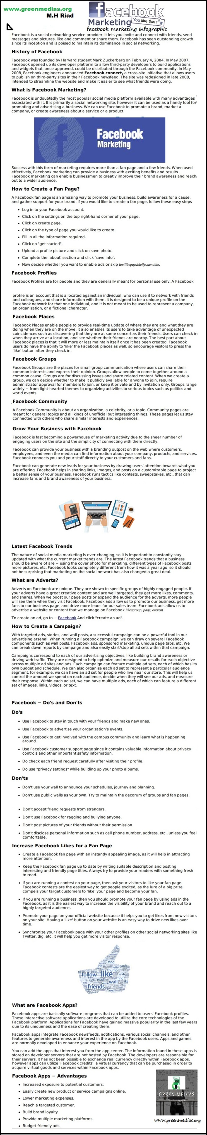 facebook marketing infographic